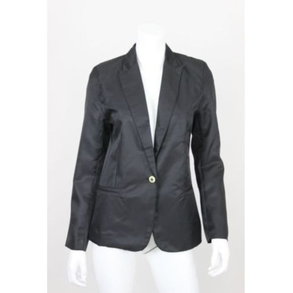 aad70a8c9e9d Zara Jackets & Coats | Nwt Woman Blazer Black Size Xl Button 90 ...